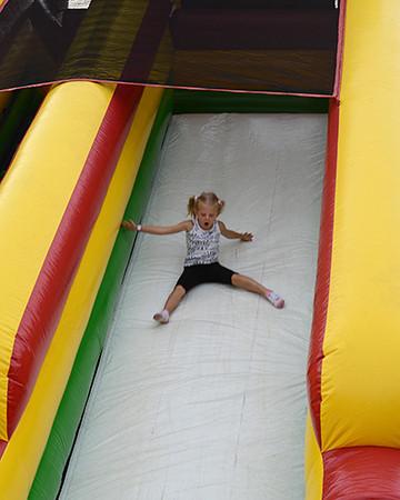 Going down the slide before Monster Trucks<br /> <br /> ©Sam Feinstein