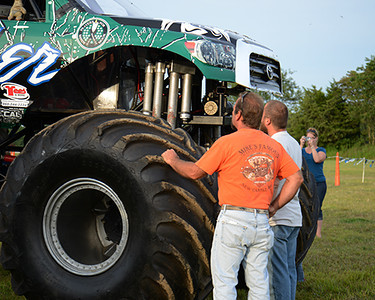 Getting a closer look at the Monster Trucks<br /> <br /> ©Sam Feinstein