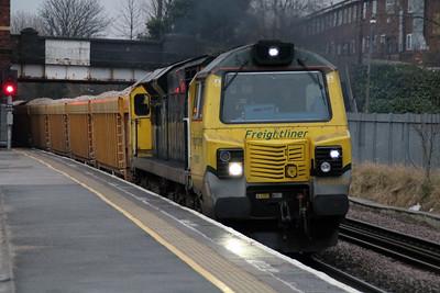 70005 1520/6u77 Mountsorrell-Crewe passes Water Orton.
