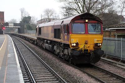 66070 1509/6m50 Westbury-Bescot passes Water Orton.