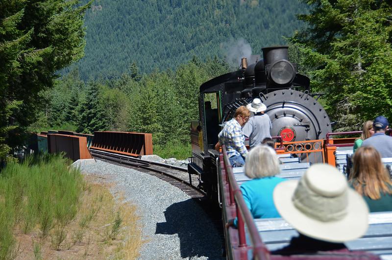 Nisqually R. trestle - Mt. Rainier Scenic RR