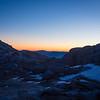 Sunrise over trailcamp