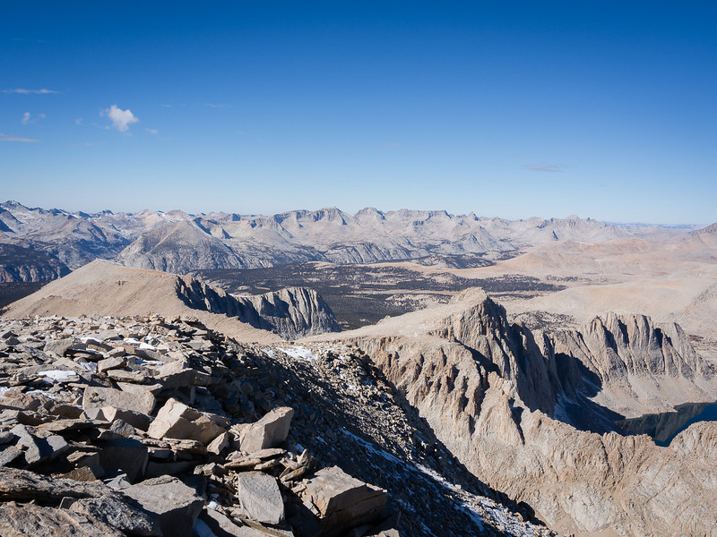 From the north side of Mt. Whitney