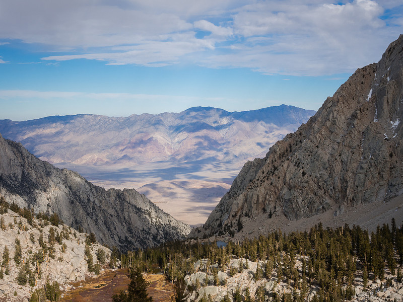 Clouds over the Owens Valley