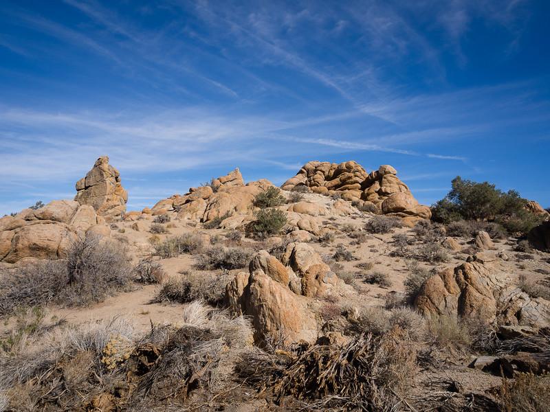 Rock formations near Benton Hot Springs
