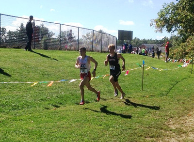 Phil Parent and Tristan Winship with about 300m to go at the Nashua Invite