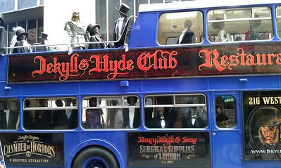 Rolling ad for the Jekyll & Hyde Club