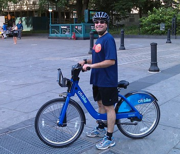 Craig on a Citi Bike, part of NYC's new bikeshare system, which launched two weeks earlier