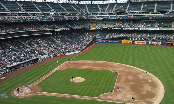 Citi Field, like its predecessor Shea Stadium, is the only Major League Baseball ballpark with non-yellow foul poles.