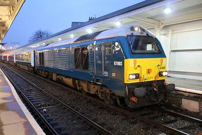 67002 tnt 67001/82306 1835/1w94 Cardiff-Holyhead Arriva Wales Train service.