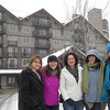 The girls in front of the Lodge