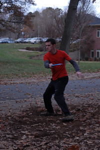 Participants in the disc golf tournament.