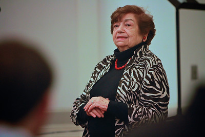Holocaust Survivor Ela Wiessberger speaks to classes and students at Gardner-Webb University.