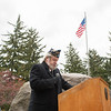 131111 VT Day JOED VIERA/STAFF PHOTOGRAPHER Lockport, NY- American Legion Vice Commander Doug Haak speaks at the Veterans Dayevent in Outwater Park on Monday Nov 11th, 2013.