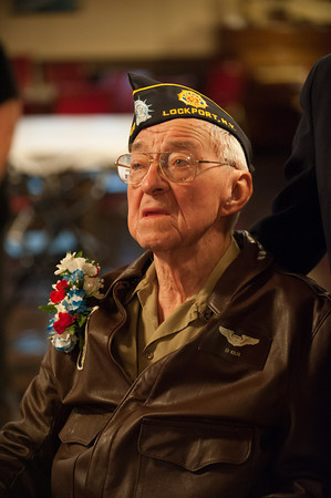 131121 WW2 MOH JOED VIERA/STAFF PHOTOGRAPHER Lockport, NY-Ed Kolek is honored at the American Legion Post on Thursday Nov 21st, 2013.