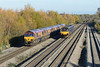 23 November 2013 :: 0Z12 Class 66 move from Margam to Westbury led by 66091 with 66005, 66170, 66106 & 66063 at Undy