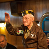 131121 WW2 MOH JOED VIERA/STAFF PHOTOGRAPHER Lockport, NY-Ed Kolek greets his guests at the American Legion Post on Thursday Nov 21st, 2013.