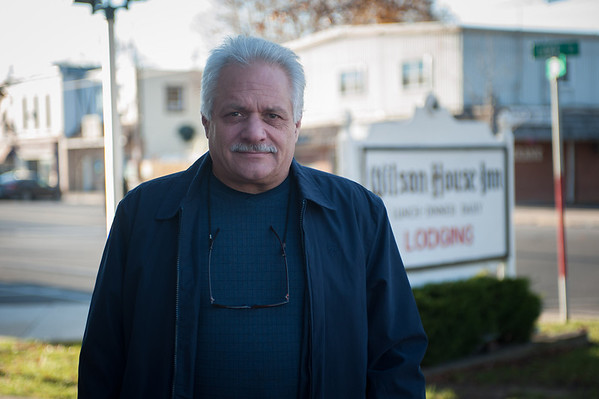 131114 3A Ent VIERA/STAFF PHOTOGRAPHER Wilson, NY-John Cracchiola owner of The Wilson House Restaurant and Inn stands outside of his establishment.  Cracchiola has owned the historic building since 2005. Thursday Nov 14th, 2013.