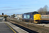 30 November 2013 :: The double headed locomotives on 1Z42 from Whitchurch, Shropshire to Eastleigh were split at Salisbury station into T&T formation ready for Portsmouth Harbour where there are now no run round facilities and we see 37261 running round the train