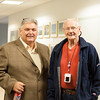 131119 Neiss VIERA/STAFF PHOTOGRAPHER Niagara Falls, NY-Niagara Gazette photo chief James Neiss and former Gazette photo chief Ronald Shifferly at Neiss' opening of Roaming the Niagara Frontier at the Niagara Falls Conference Center on Tuesday Nov 19th, 2013.