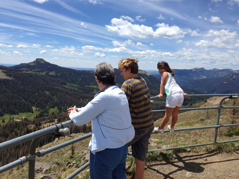 12,000 feet up at Lobo Overlook outside of Pagosa Springs (near Wolfcreek Pass and Wolfcreek Ski Area)