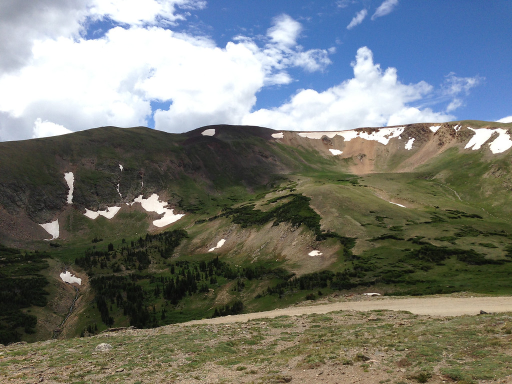 """View from """"The Scary Road"""" as we approach The Alpine Center"""