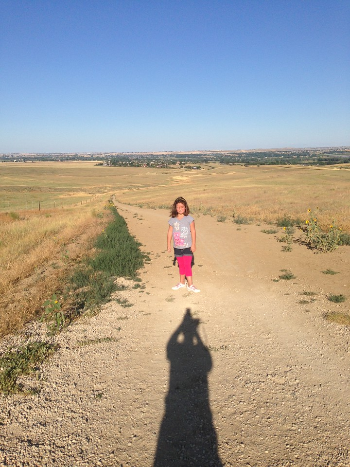 Keirah made it up the big hill on our 3-mile hike around our open space