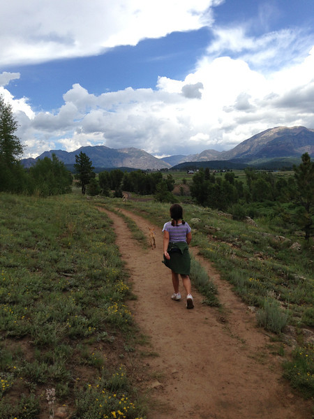 Gorgeous Piedra River Trail and San Juan Mountains in the background