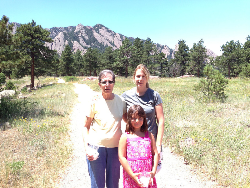 Trail behind NCAR.  Flatirons in the background
