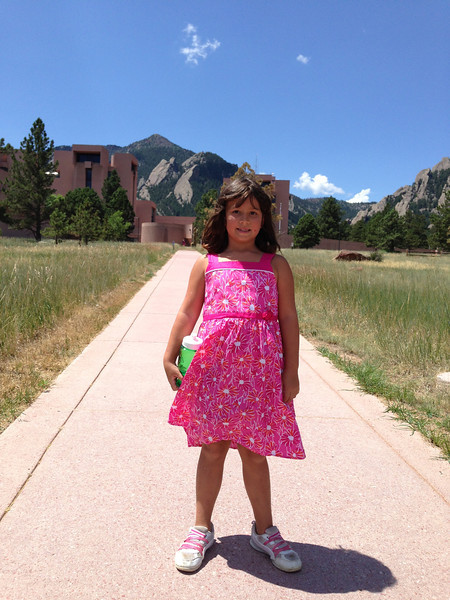 Keirah's first time to visit NCAR, where David works