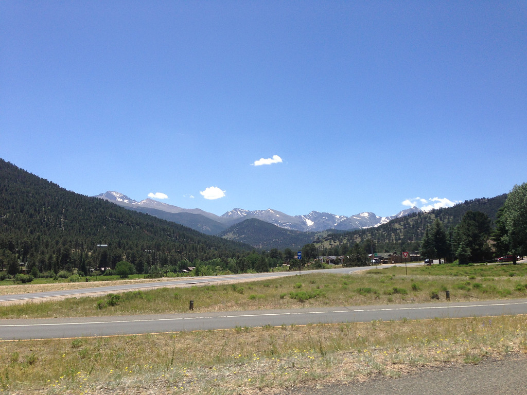 view driving on Hwy 36 to Rocky Mountain National Park