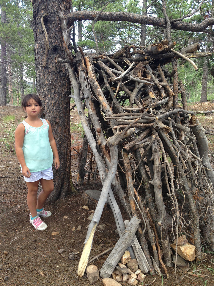 Someone made a little hut at Mud Lake and we enjoyed seeing it