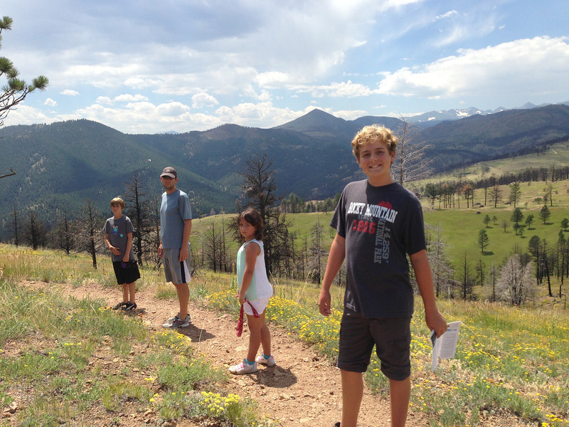 Bald Mountain hike (Four Mile Canyon fire evidence in the background along with the Indian Peaks)