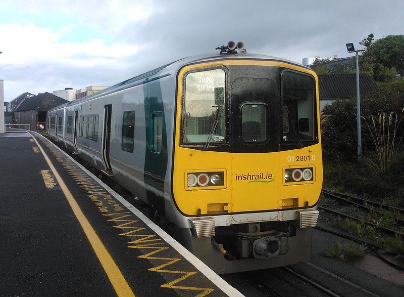 Iarnrod Eireann 2800 class DMU no. 2801 at Galway with a Western Corridor service to Limerick.