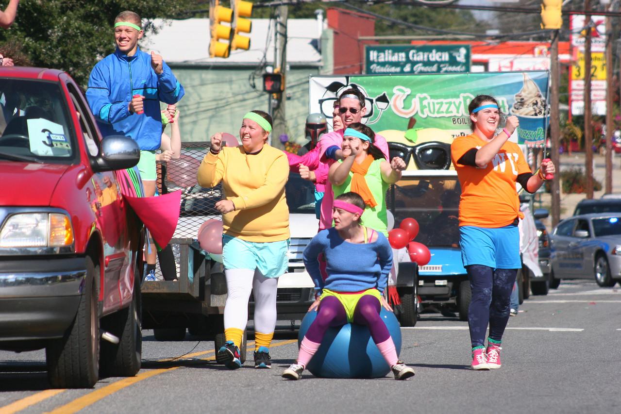Gardner-Webb University Homecoming Parade 2013 in Boiling Springs, NC.