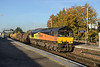 24 October 2013 :: Colas Rail Freight's 66850 passing Basingstoke station working 6Y41 from Eastleigh to Hoo Junction