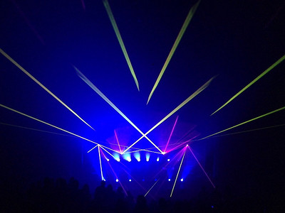 Laser beams and electronic music fill the air :)