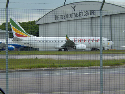 Boeing 737 ET-APM Ethiopian Airlines at Stansted on 16th June
