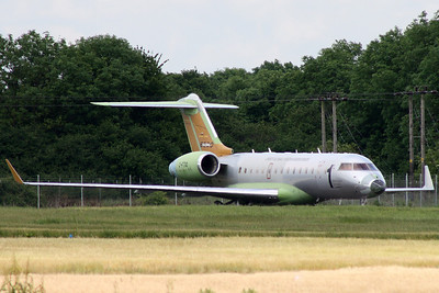 Global express BD-700 at Stansted on 16th June