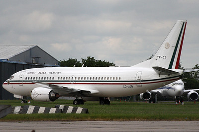 Boeing 737 TP-02 Mexican Air Force at Stansted on 16th June