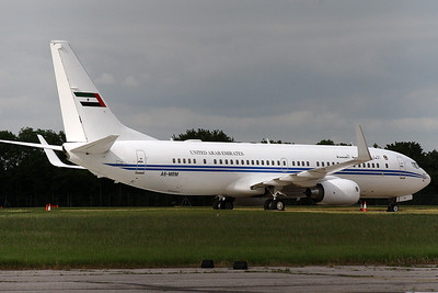 Boeing 737 BBJ A6-MRM Dubai Air Wing at Stansted on 16th June
