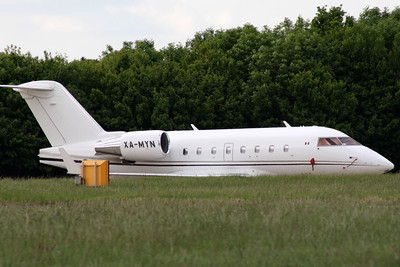 Challenger 601 XA-MYN at Stansted on 16th June