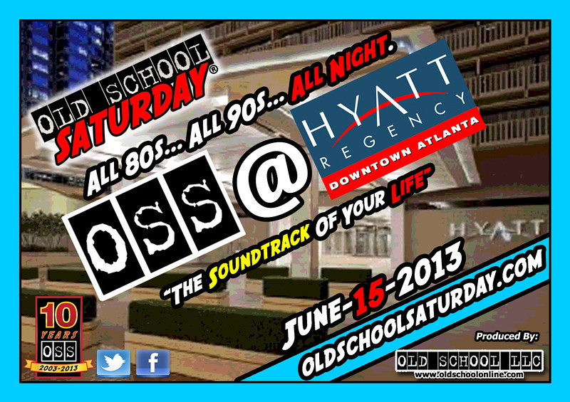 "The YEAR-LONG celebration continues June-15-2013 at The Hyatt Regency DOWNTOWN.  Join us to enjoy all 80s and 90s music.  Tickets, VIP tables, 411, FAQs, and more:   <a href=""http://www.oldschoolsaturday.com"">http://www.oldschoolsaturday.com</a>  :::  <a href=""http://www.facebook.com/oldschoolsaturday"">http://www.facebook.com/oldschoolsaturday</a> :::  <a href=""http://www.twitter.com/oldschoolsat"">http://www.twitter.com/oldschoolsat</a> ::: #OSS10years @oldschoolsat"
