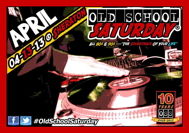 """Our year long celebration continues APRIL-13 at The Sheraton Downtown with TWO BALLROOMS and plenty of available space.   Join us.  Follow @oldschoolsat. Tickets & VIP Tables:   <a href=""""http://www.oldschoolsaturday.com"""">http://www.oldschoolsaturday.com</a> or 877-725-8849"""