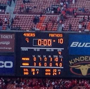 Panthers @ 49ers 10 Nov 2013
