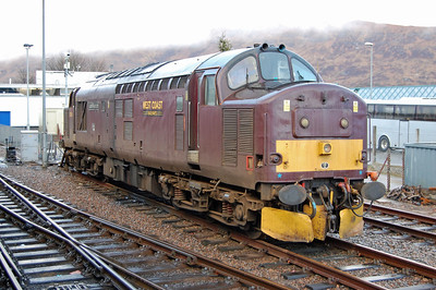 Also at Fort William was West Coast's 37676 'Loch Rannoch', which had been employed on snow clearance duties during the preceding weeks (02/03/2013)