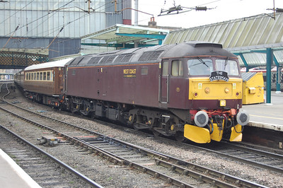 Anothr view of 47760 at Carlisle with 1Z57. The loco had been a last-ditch replacement after '826 was failed shortly before departure with the previous day's empty stock move from Carnforth (08/03/2013)