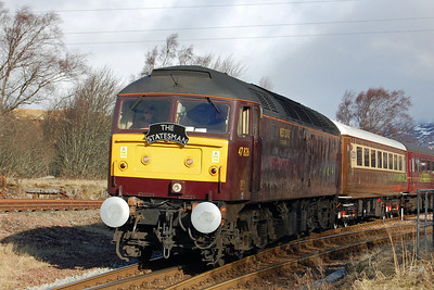 Another view of 47826 at Rannoch catching the early morning sunshine during a pre-planned photo stop (02/03/2013)
