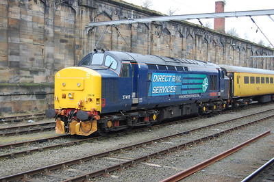 37419 'Carl Haviland' was also visible at Carlisle stabled in the 'wall sidings' with a test train (08/03/2013)