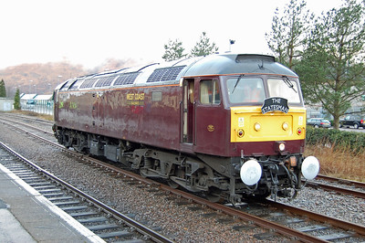 47826 had been on the rear of the previous day's '1Z57' and is seen here at Fort William the next morning having been temporarily detched from the front of its train to allow the Mallaig service to depart (02/03/2013)